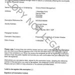 Denmark House Exemption Certificate